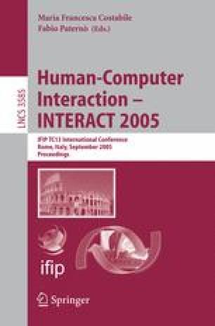 Human-Computer Interaction - INTERACT 2005