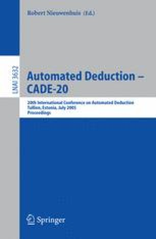 Automated Deduction – CADE-20