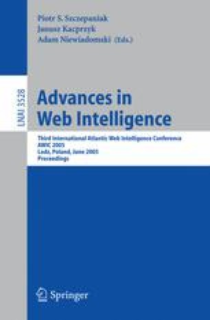 Advances in Web Intelligence
