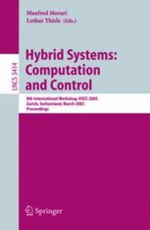 Hybrid Systems: Computation and Control