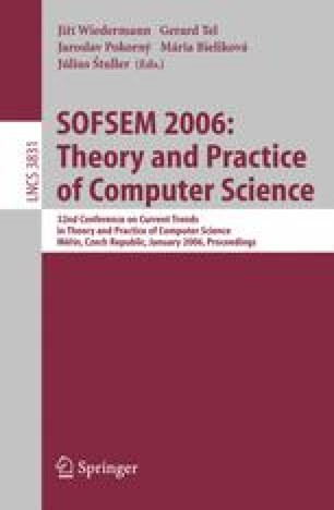 SOFSEM 2006: Theory and Practice of Computer Science