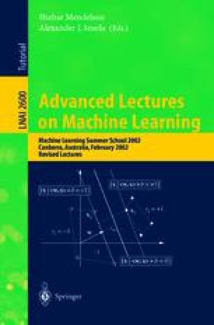 Advanced Lectures on Machine Learning