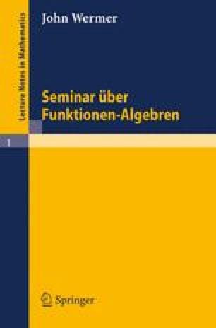 Seminar über Funktionen-Algebren