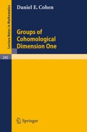 Groups of Cohomological Dimension One