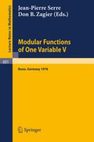 Modular Functions of one Variable V