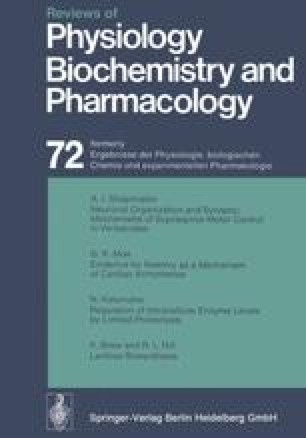 Reviews of Physiology, Biochemistry and Pharmacology, Volume 72