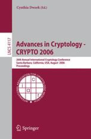 Advances in Cryptology - CRYPTO 2006