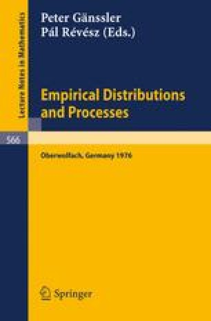 Empirical Distributions and Processes
