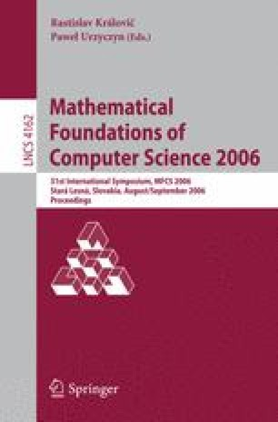 Mathematical Foundations of Computer Science 2006
