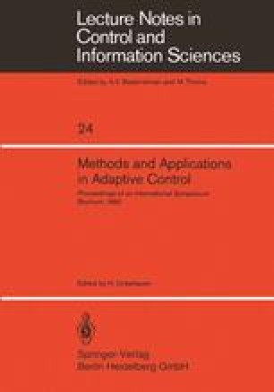 Methods and Applications in Adaptive Control