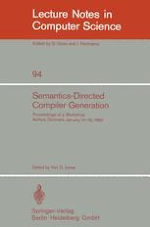 Semantics-Directed Compiler Generation