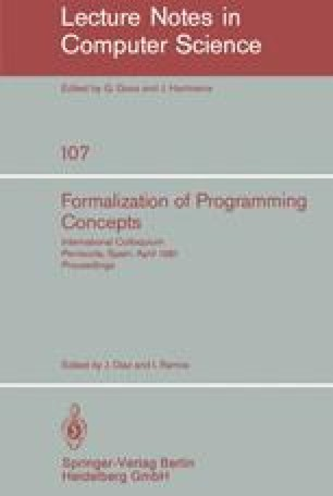 Formalization of Programming Concepts