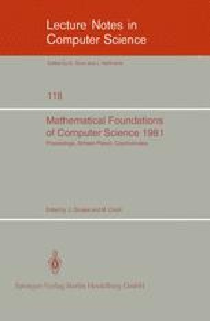 Mathematical Foundations of Computer Science 1981