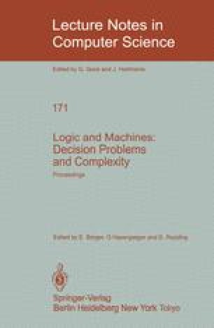 Logic and Machines: Decision Problems and Complexity