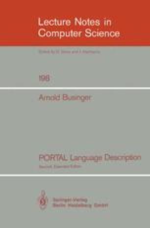 PORTAL Language Description