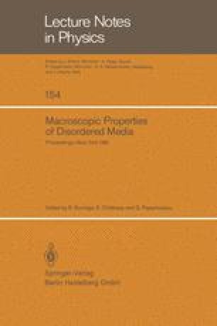 Macroscopic Properties of Disordered Media