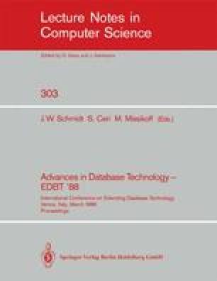 Advances in Database Technology—EDBT '88