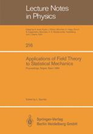 Applications of Field Theory to Statistical Mechanics