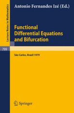 Functional Differential Equations and Bifurcation