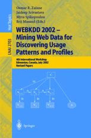 WEBKDD 2002 - Mining Web Data for Discovering Usage Patterns and Profiles