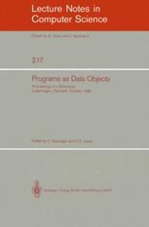 Programs as Data Objects
