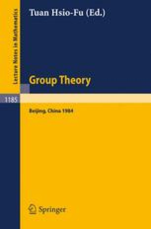 Group Theory, Beijing 1984