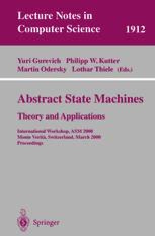 Abstract State Machines - Theory and Applications