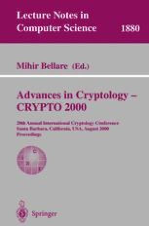 Advances in Cryptology — CRYPTO 2000