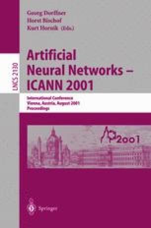 Artificial Neural Networks — ICANN 2001