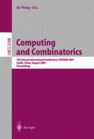 Computing and Combinatorics