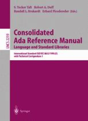 Consolidated Ada Reference Manual Language and Standard Libraries