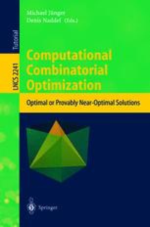 Branch-and-Cut Algorithms for Combinatorial Optimization and