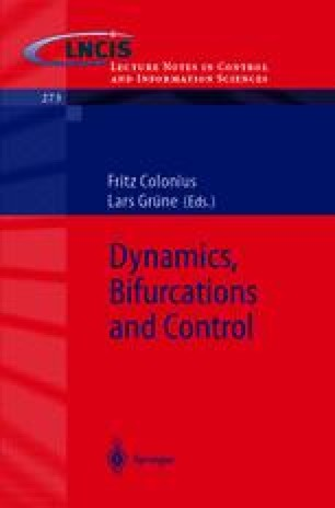 Dynamics, Bifurcations, and Control