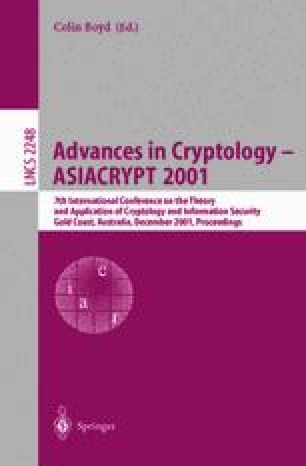 Advances in Cryptology — ASIACRYPT 2001