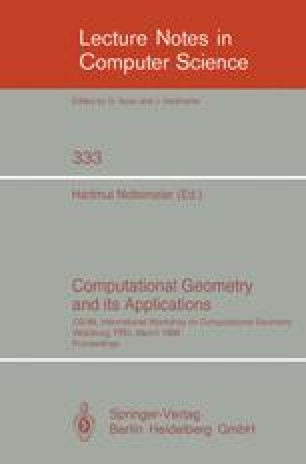 Computational Geometry and its Applications