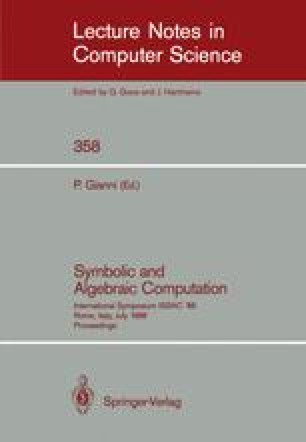 Symbolic and Algebraic Computation