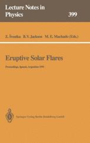 Eruptive Solar Flares