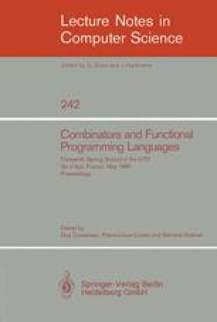 Combinators and Functional Programming Languages