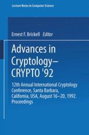 Advances in Cryptology — CRYPTO' 92