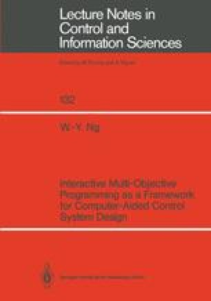 Interactive Multi Objective Programming As A Framework For Computer Aided Control System Design Springerlink