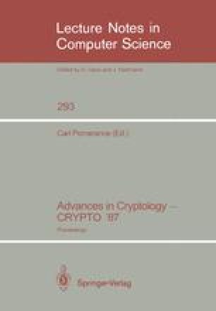 Advances in Cryptology — CRYPTO '87