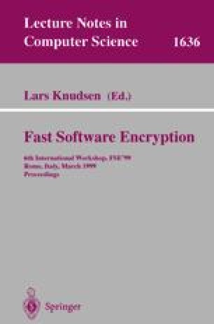 Fast Software Encryption