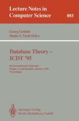 Database Theory — ICDT '95