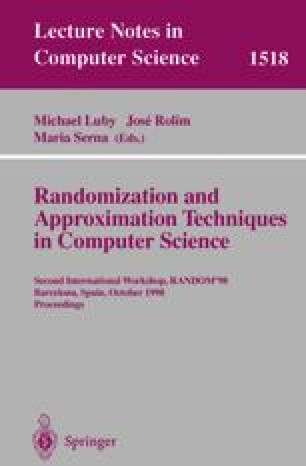 Randomization and Approximation Techniques in Computer Science