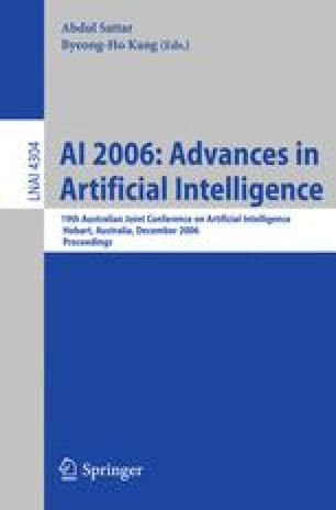 AI 2006: Advances in Artificial Intelligence