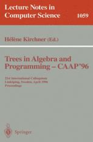 Trees in Algebra and Programming — CAAP '96