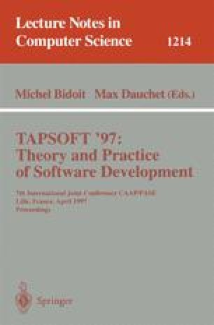 TAPSOFT '97: Theory and Practice of Software Development