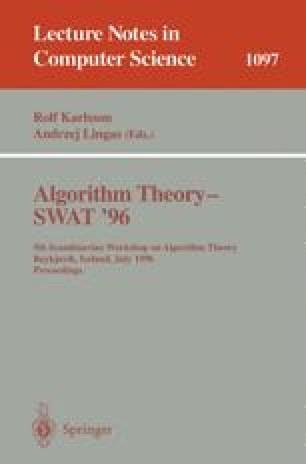 Algorithm Theory — SWAT'96