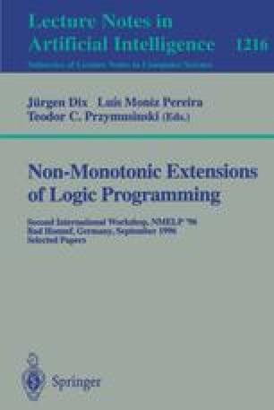 Non-Monotonic Extensions of Logic Programming