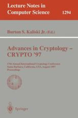 Advances in Cryptology — CRYPTO '97